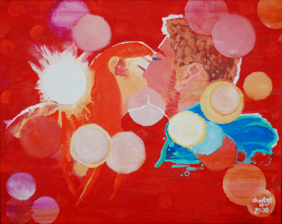 ekwetzel new years 2009 painting kiss