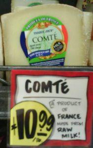 Raw milk cheese trader joes comte