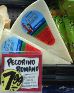 Pecorino Romano Raw milk cheese