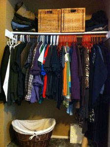 closet without doors