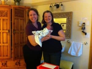 Amy Gordon & Susan birth assistant