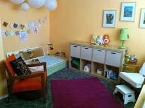 nursury room montessori floorbed