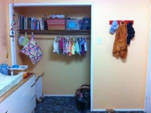 nursury room closet babywearing
