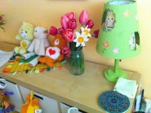 baby nursery TULIPS target lamp