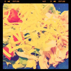salad cheese chicken