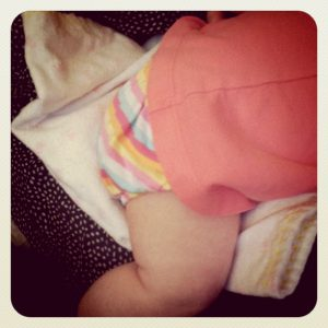 diaper free baby butt