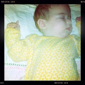 baby sleep hipstamatic print flash