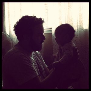 silhouettes baby papa