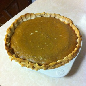 fresh oldfashioned delicious pumpkin pie made from scratch