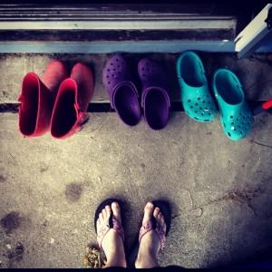 crocks boots flip flops