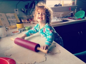 toddler helper pie crust baking rolling pin