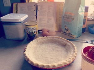 empty prepared pie crust from scratch