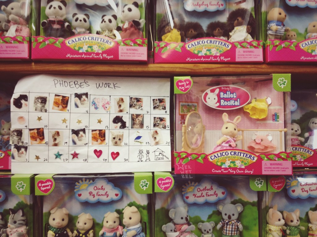 phoebe's worksheet and calico critters