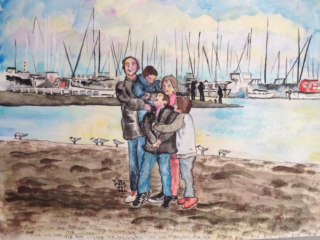 melbourn australia waterfront wharf wharves watercolor