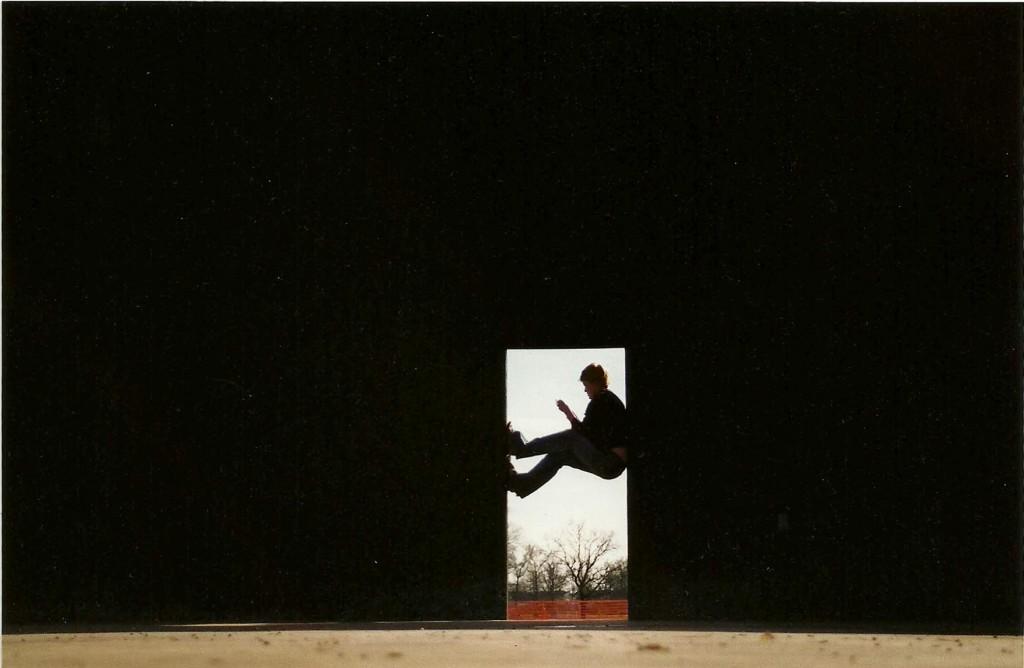 doorway in the light depression