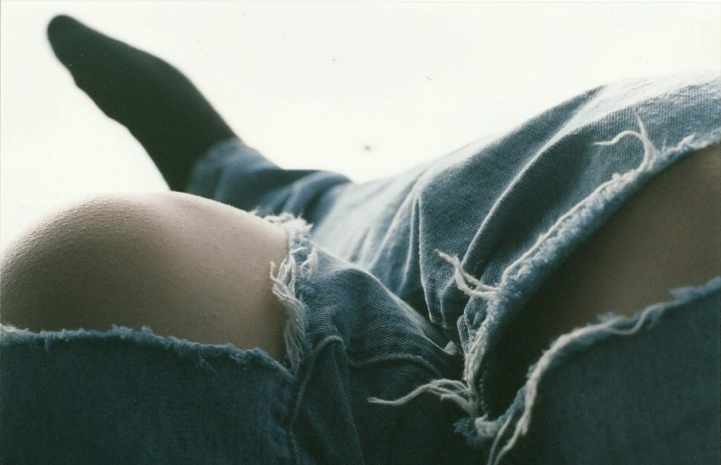 jeans with ripped knees