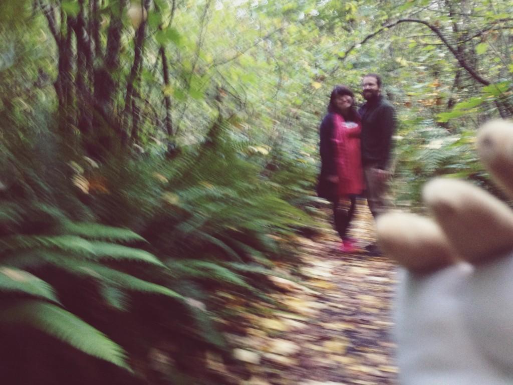 swirly swirl unfocused selfie woods