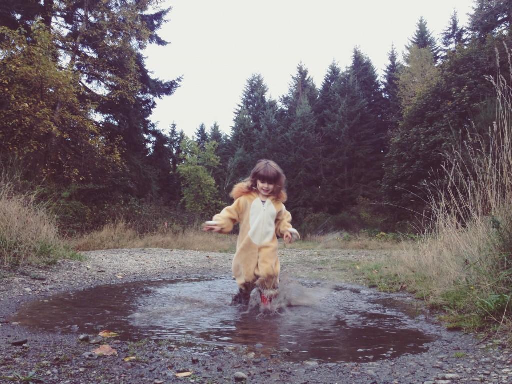 splashing puddle swan creek lion suit