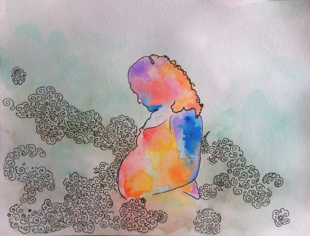 pregnancy synesthesia swirly soul spirit painting