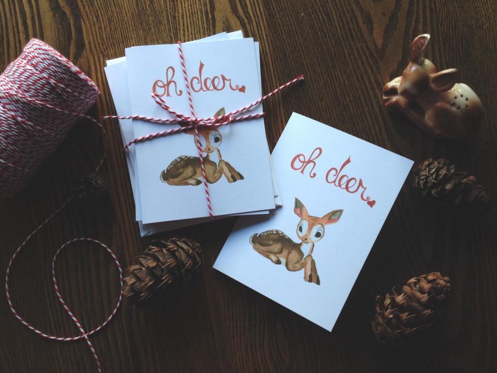 Oh deer cards