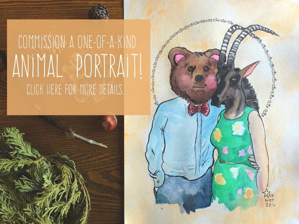 animal portrait promo for homepage