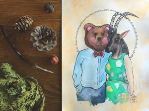 animal personality portrait bear sable