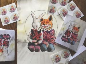 animal personality fox bunny