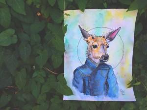 animal personality portrait deer