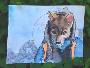 animal personality portrait wolf
