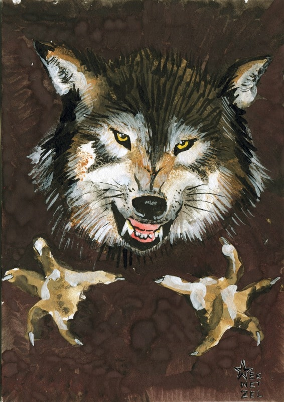 The trope of the Big Bad Wolf is pervasive in western culture. In stories such as Aesop's Fables and Grimms' Fairy Tales, the Wolf is a dark stranger whose hunger is so desperate he will devour his victims whole.