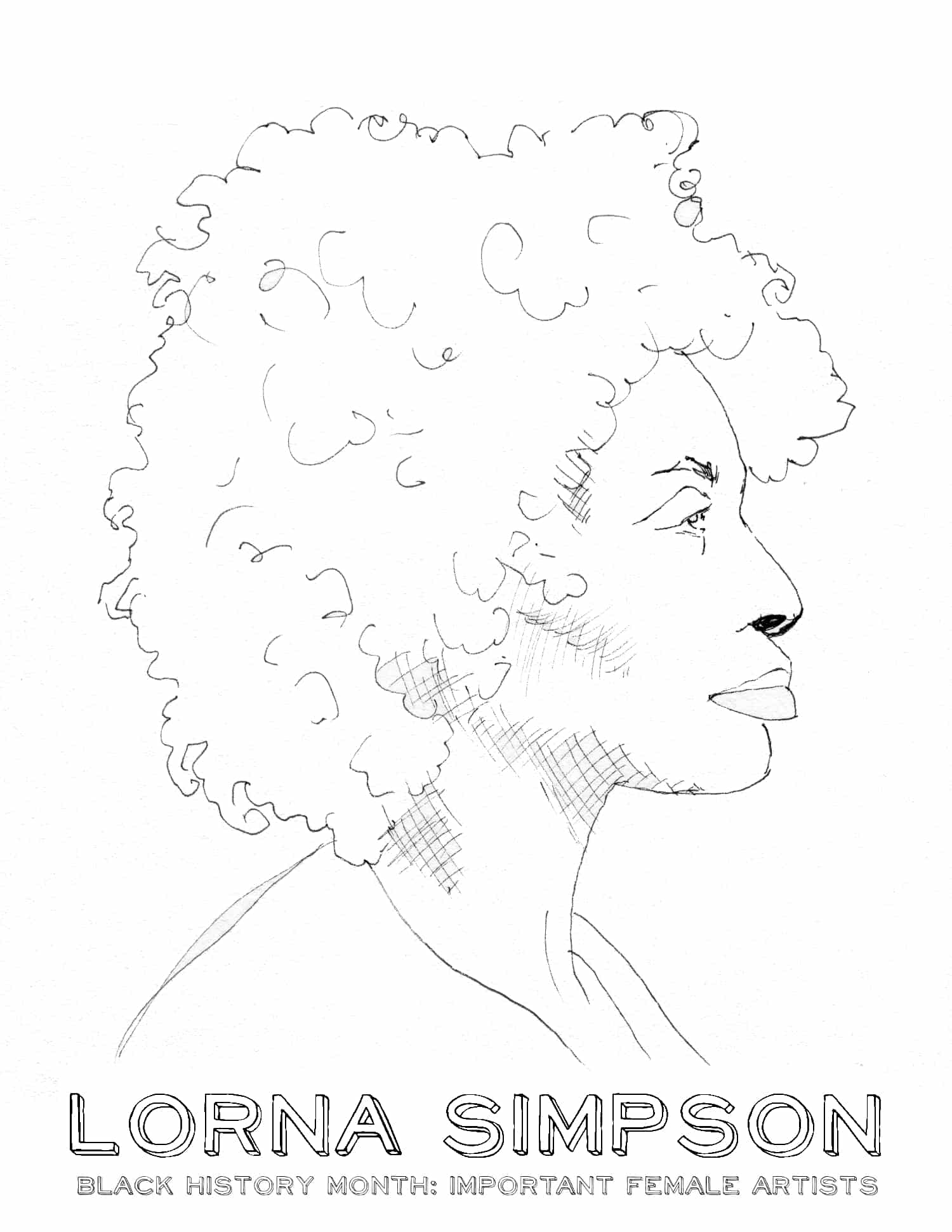 Black History Month Female Artists: Coloring Sheets ...