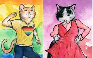 Queer Cats for Pride Month 2019